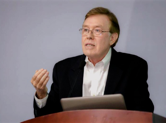 Michael C. Mitchell, CEO of MCM Group gives a six-hour seminar on experiential retail last December
